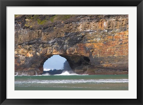 Framed Cliffs, Hole in the Rock, Coffee Bay, South Africa Print