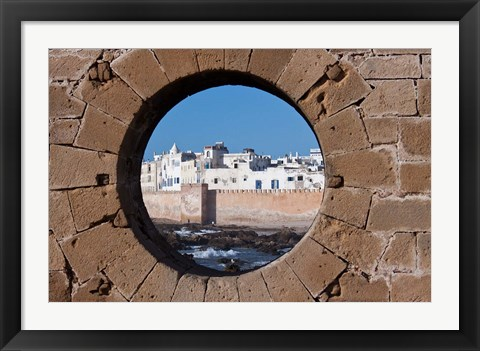 Framed Fortified Architecture of Essaouira, Morocco Print