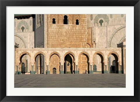 Framed Hassan II Mosque, Casablanca, Morocco, North Africa Print