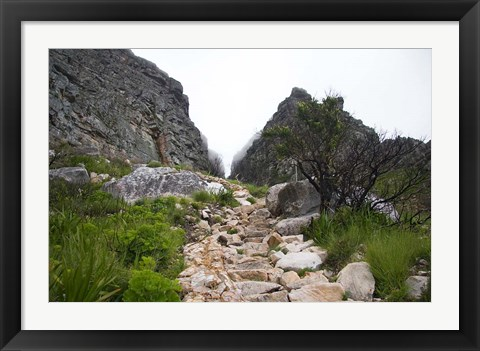 Framed Hiking Up Table Mountain, Cape Town, Cape Peninsula, South Africa Print