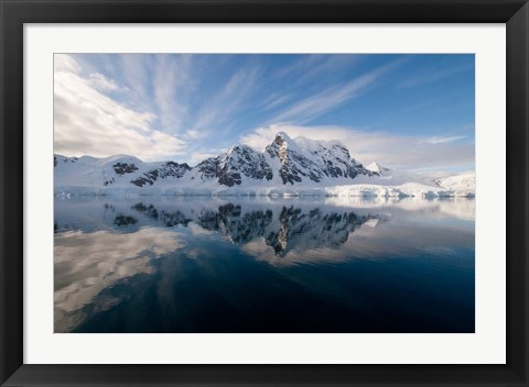 Framed Antarctica, Paradise Harbour and Bay Print