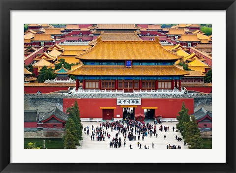 Framed Forbidden City North Gate, Gate of Divine Might, Beijing, China Print