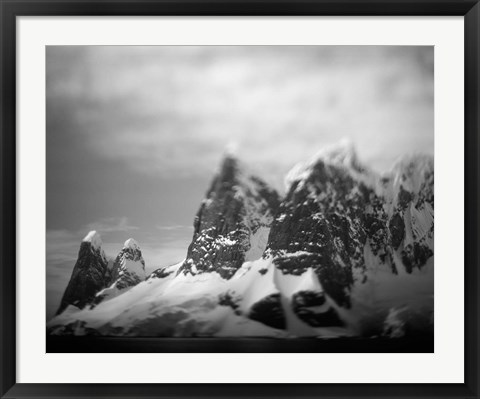 Framed Antarctica, Mountain peaks along Cape Renaud in Lemaire Channel. Print
