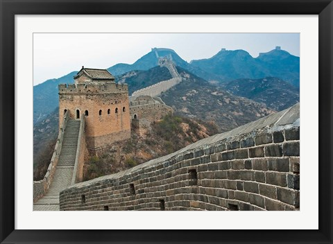 Framed China, Hebei, Luanping, Chengde. Great Wall of China Print