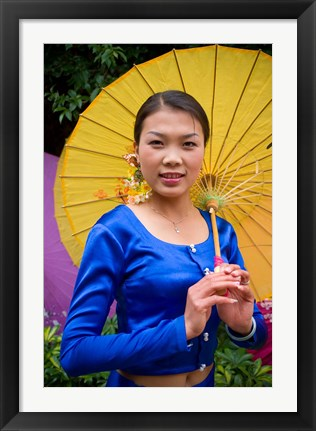 Framed China, Yunnan, Young Dai Portrait Print