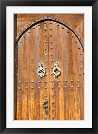 Framed Door in the Souk, Marrakech, Morocco, North Africa Print