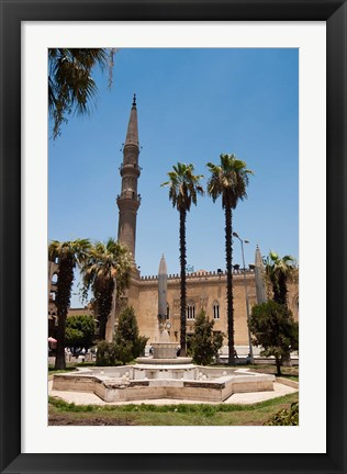 Framed El Hussein Square and Mosque, Cairo, Egypt, North Africa Print