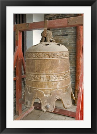 Framed Bell, Ancient Architecture, Pingyao, Shanxi, China Print