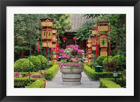 Framed Bai Family Imperial style restaurant, Beijing, China Print