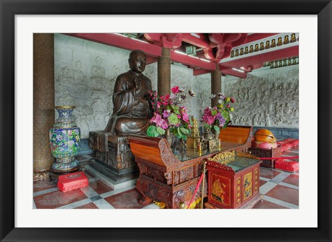 Framed Buddhist shrine, Big Wild Goose Pagoda, Xian, China Print