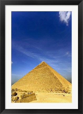 Framed Great Pyramid of Giza, Khufu, Cheops, Cairo, Egypt Print
