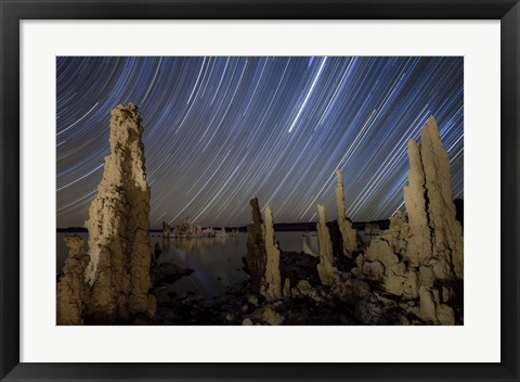 Framed Tufa formations at Mono Lake, California Print