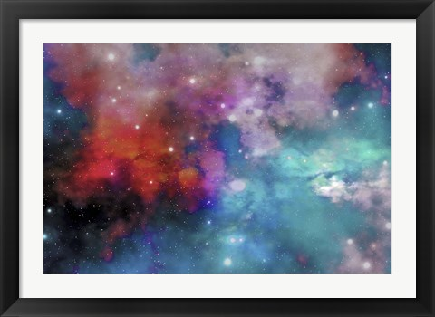 Framed Cloud and star remnants after a supernova explosion Print