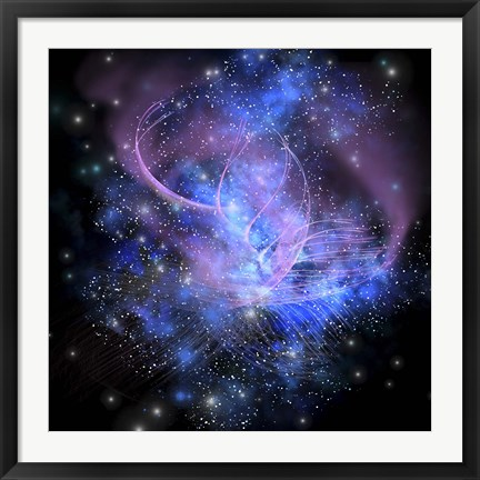 Framed spacial phenomenon in the cosmos Print