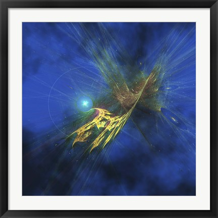 Framed Cosmic image of our vast universe Print
