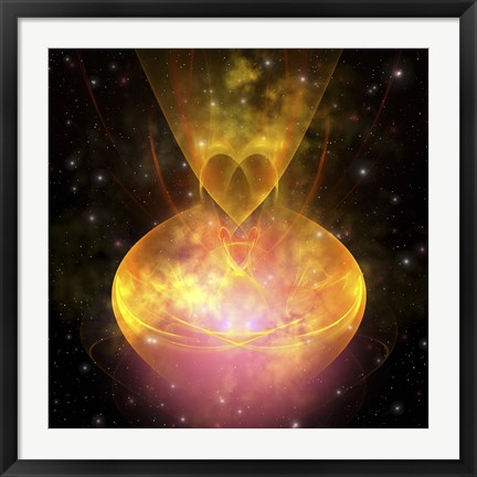 Framed Stars are born in this hourglass shaped nebula out in the cosmos Print