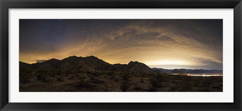 Framed partly coiudy sky over Borrego Springs, California Print