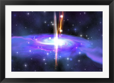 Framed stellar black hole caused by the collapse of a massive star Print