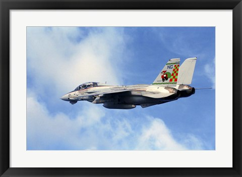 Framed F-14A Tomcat with special tail art applied for the Christmas holiday Print