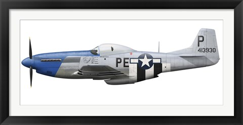 Framed P-51D Mustang assigned to the 328th Fighter Squadron Print