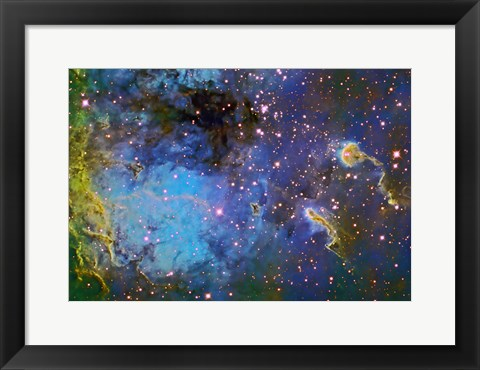 Framed IC 410, The Tadpole Nebula Print