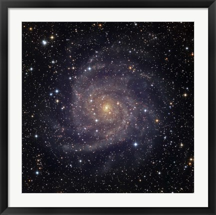 Framed IC 342, an intermediate spiral galaxy in the constellation Camelopardalis Print