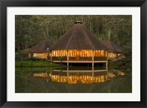 Framed Madagascar, Vakona Forest Lodge, Resort, Mantadia NP Print