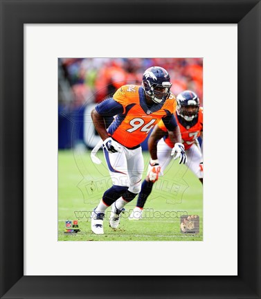 Framed DeMarcus Ware 2014 Action Print