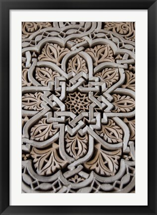 Framed Morocco, Mahakma Law Courts, Islamic patterns Print