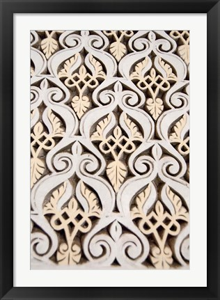 Framed Islamic patterns on Mahakma Law Courts, Morocco Print