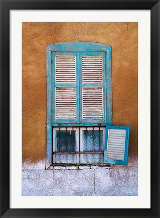 Framed Nubian Window in a Village Across the Nile from Luxor, Egypt Print