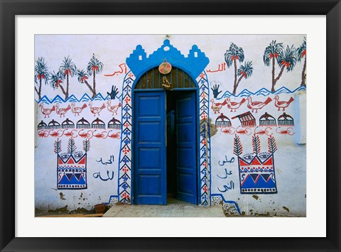 Framed Nubian Village Restaurant Across the Nile from Luxor, Egypt Print