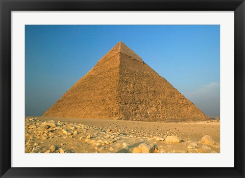 Framed Pyramids of Giza, the Nile, Cairo, Egypt Print