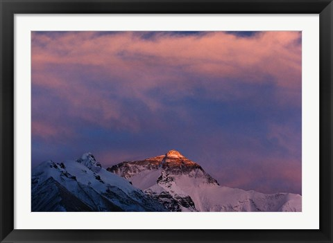 Framed Sunset on Mt. Everest, Tibet, China Print