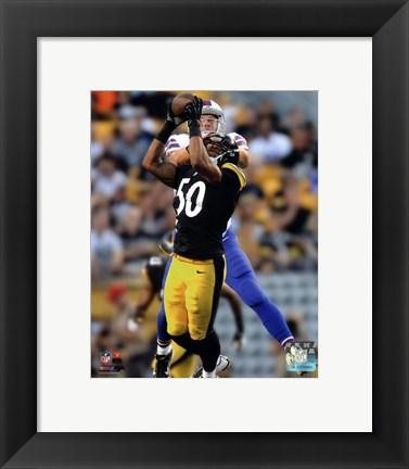 Framed Ryan Shazier Catching Football Print