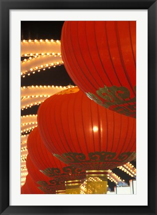 Framed Traditional Red Lanterns, China Print