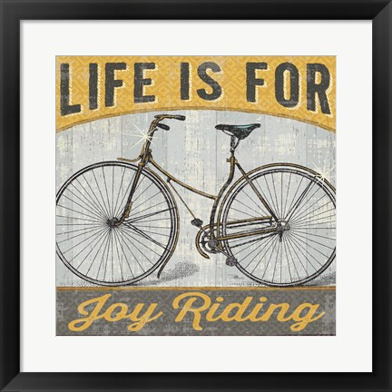 Framed Joy Ride I Print