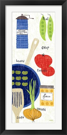 Framed Cooking It Print