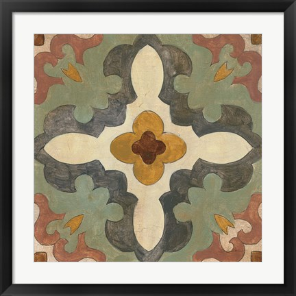 Framed Andalucia Tiles B Color Print