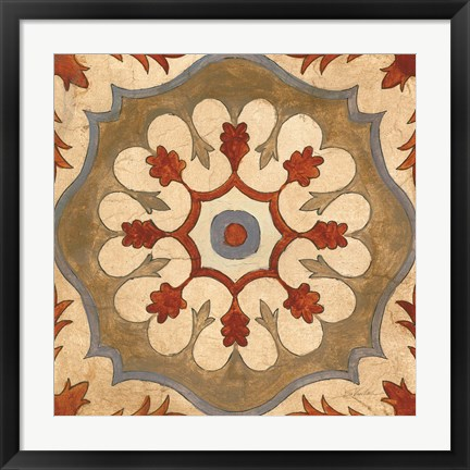 Framed Andalucia Tiles C Color Print