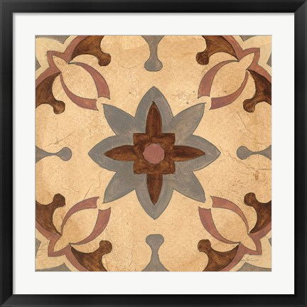 Framed Andalucia Tiles D Color Print