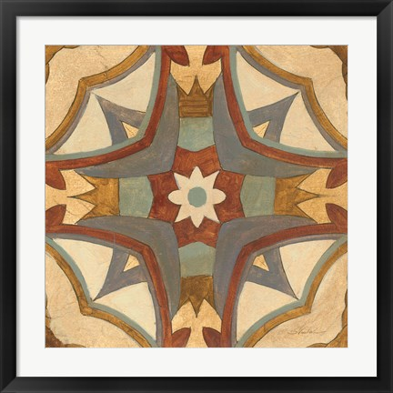 Framed Andalucia Tiles E Color Print