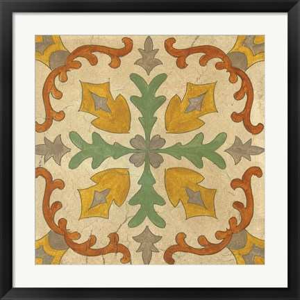 Framed Andalucia Tiles I Color Print