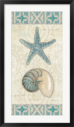 Framed Beach Treasures I Print