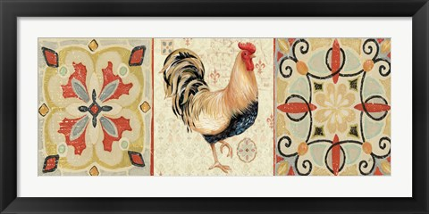 Framed Bohemian Rooster Panel II Print