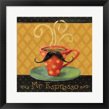 Framed Cafe Moustache III Square Print