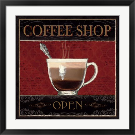 Framed Coffee Shop I Print