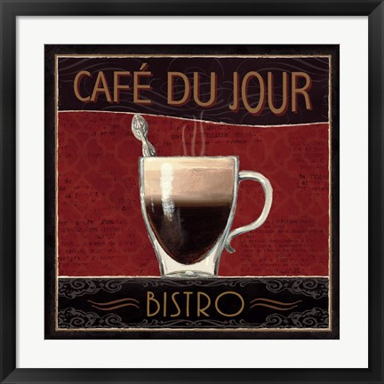 Framed Coffee Shop III Print