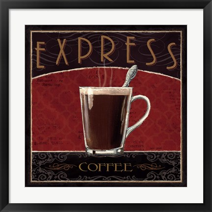 Framed Coffee Shop IV Print