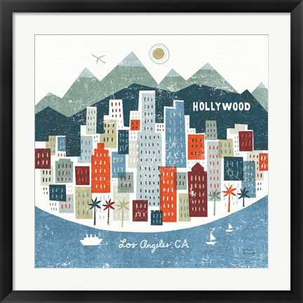 Framed Colorful Los Angeles Print